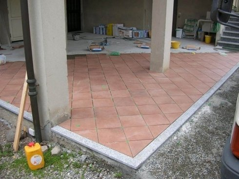 pavimentazione diagonale
