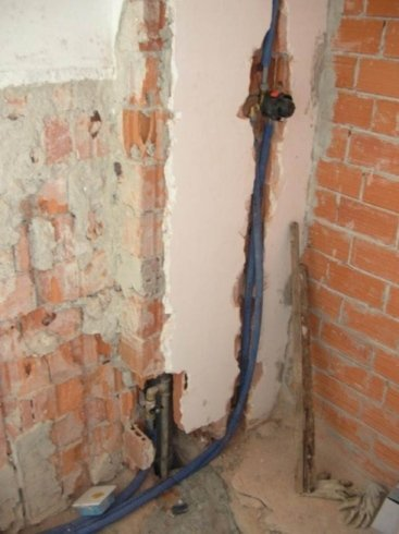collocazione miscelatore doccia