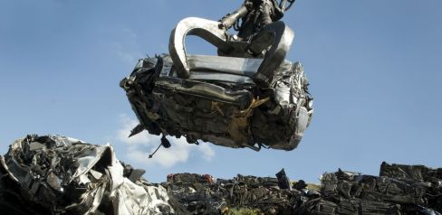 Piles of scrap metal in Whitewater Twp-Hamilton County, OH
