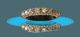 Alleanza d'oro e diamanti