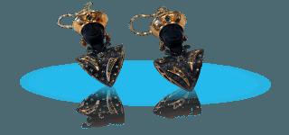 Orecchini d'oro con forma di testa