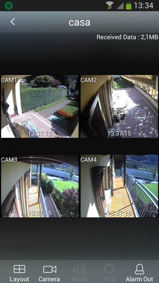 videocamera con quattro stazioni