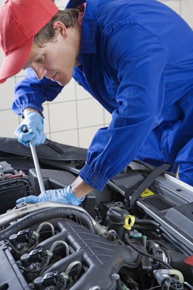 Expert performs car servicing in Hamilton