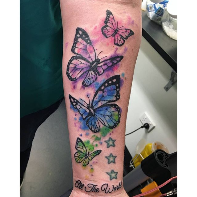 watercolour butterfly tattoos