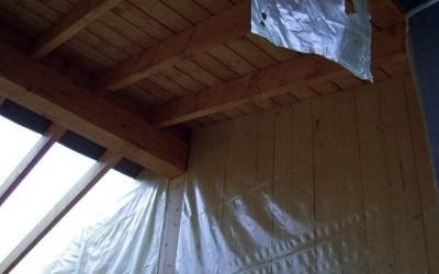 Tetto in legno essicato