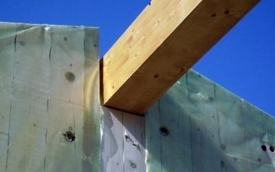 Trave portante casa in legno