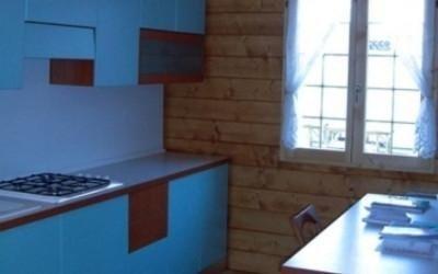 cucina in casa prefabbricata