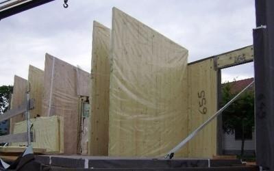 Pareti prefabbricate in legno