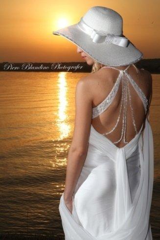Foto sposa al tramonto