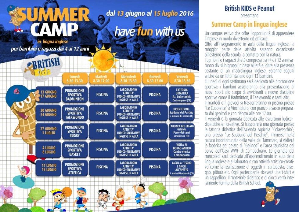 Programma Summer Camp