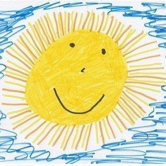 disegno del sole nel cielo
