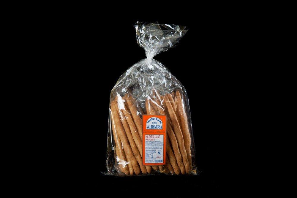 pacchetto di grissini del vecchio forno VALTRIVERSA etichetta arancione