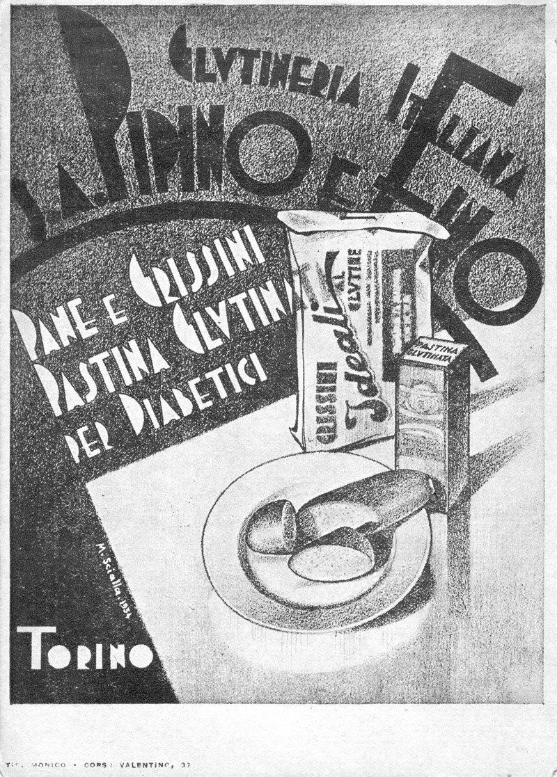foto in bianco e nero della prima pubblicita