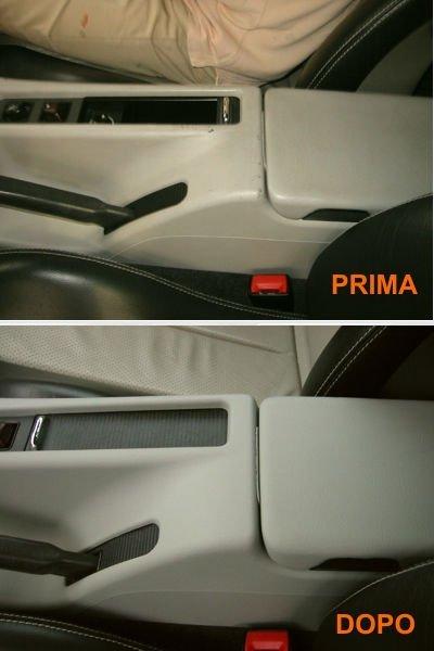 il prima e dopo intervento di pulizia interni auto