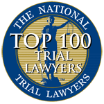 Logo for the national trial lawyers top 100