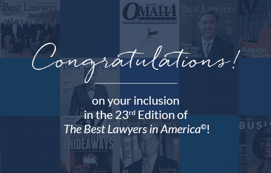 Congratulations on being in the 23rd edition of The Best Lawyers in America