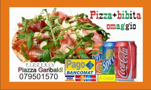 locandina promozionale pizza e bibita