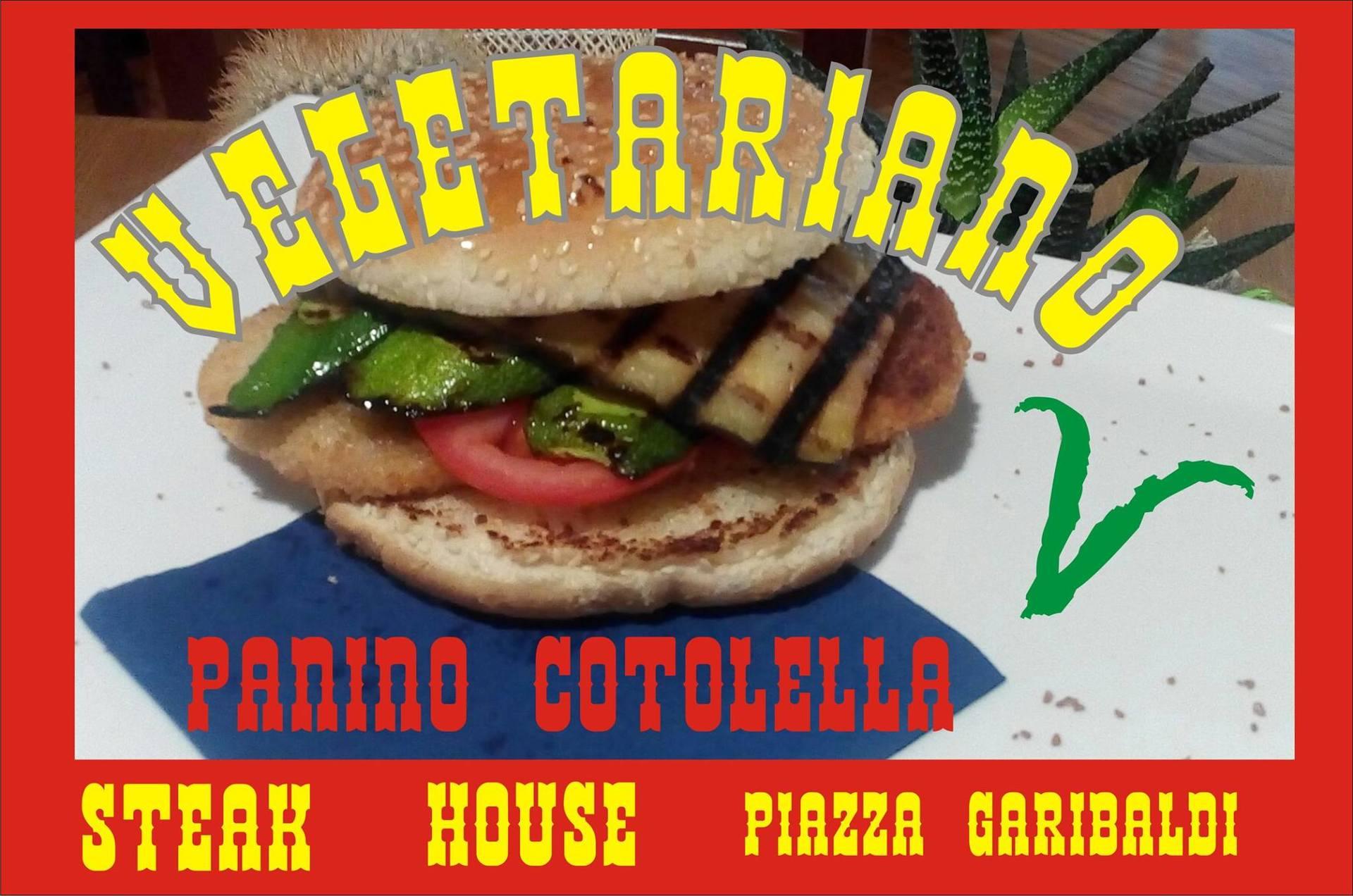 panino con cotoletta vegetariano