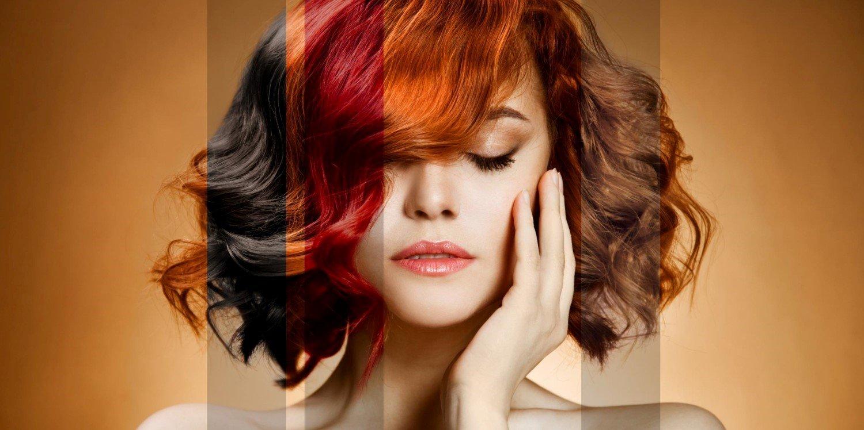Colorazione capelli con toni di rosso e castano