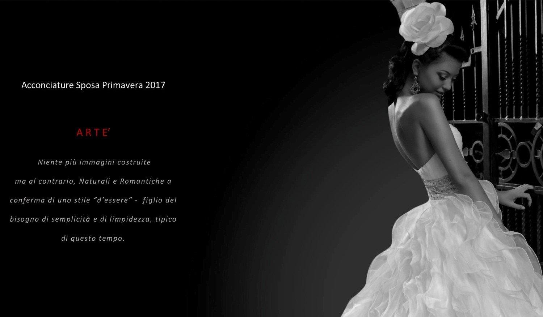 Acconciatura elegante sposa in bianco e nero