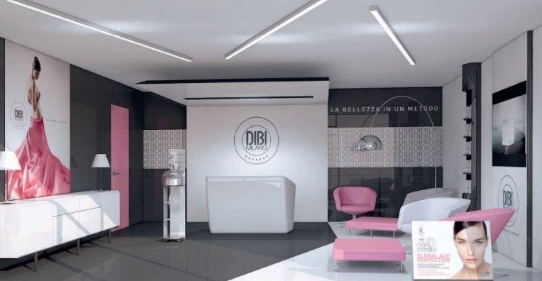 Centro estetico con pubblicità DIBI