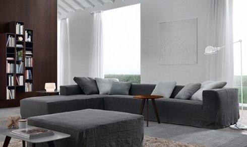 divano con pouf