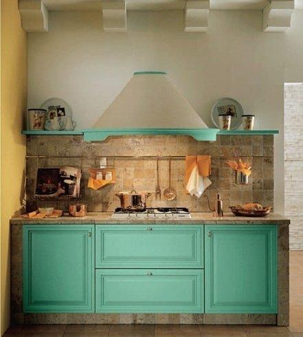 cucina classica in legno e marmo
