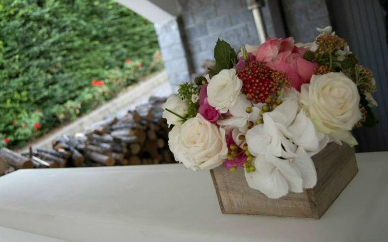 Decorazioni floreali a disposizione