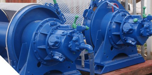 Mounted air winches