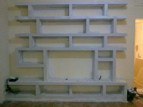 parete attrezzata in gesso, prodotti in gesso per interni