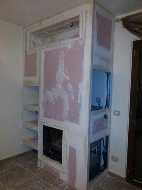 lavori in cartongesso per interni, mastici e stucchi