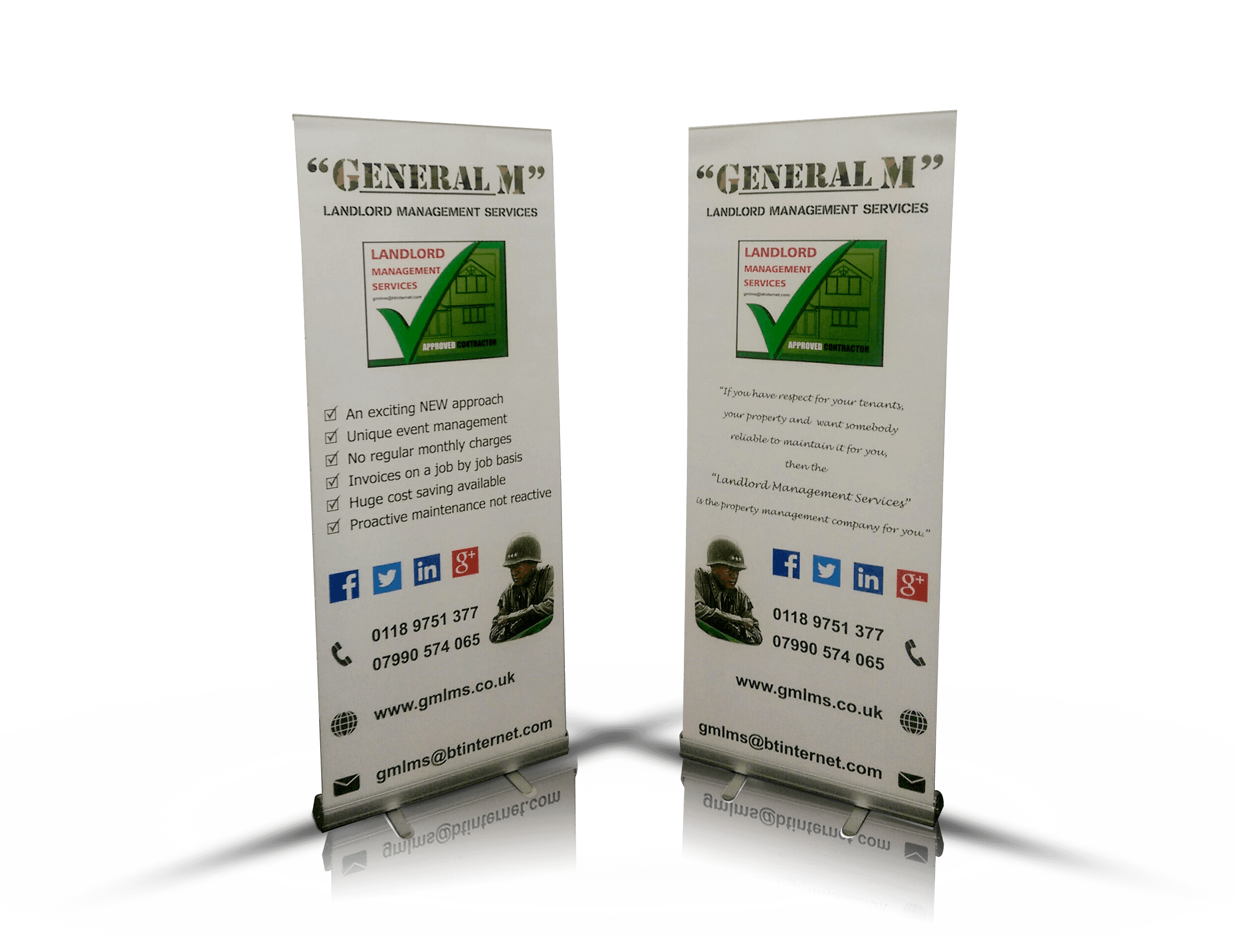 GENERAL M PVC banner