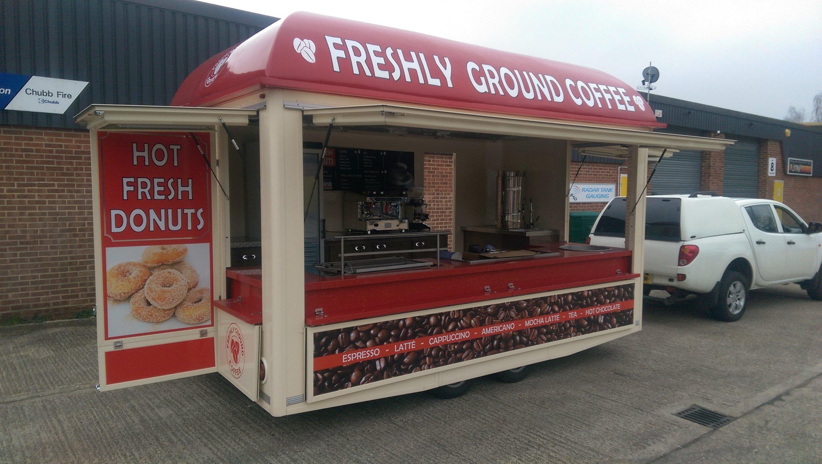 Freshly ground coffee shop