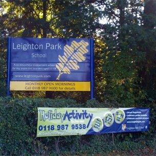 Leighton Park School blue board