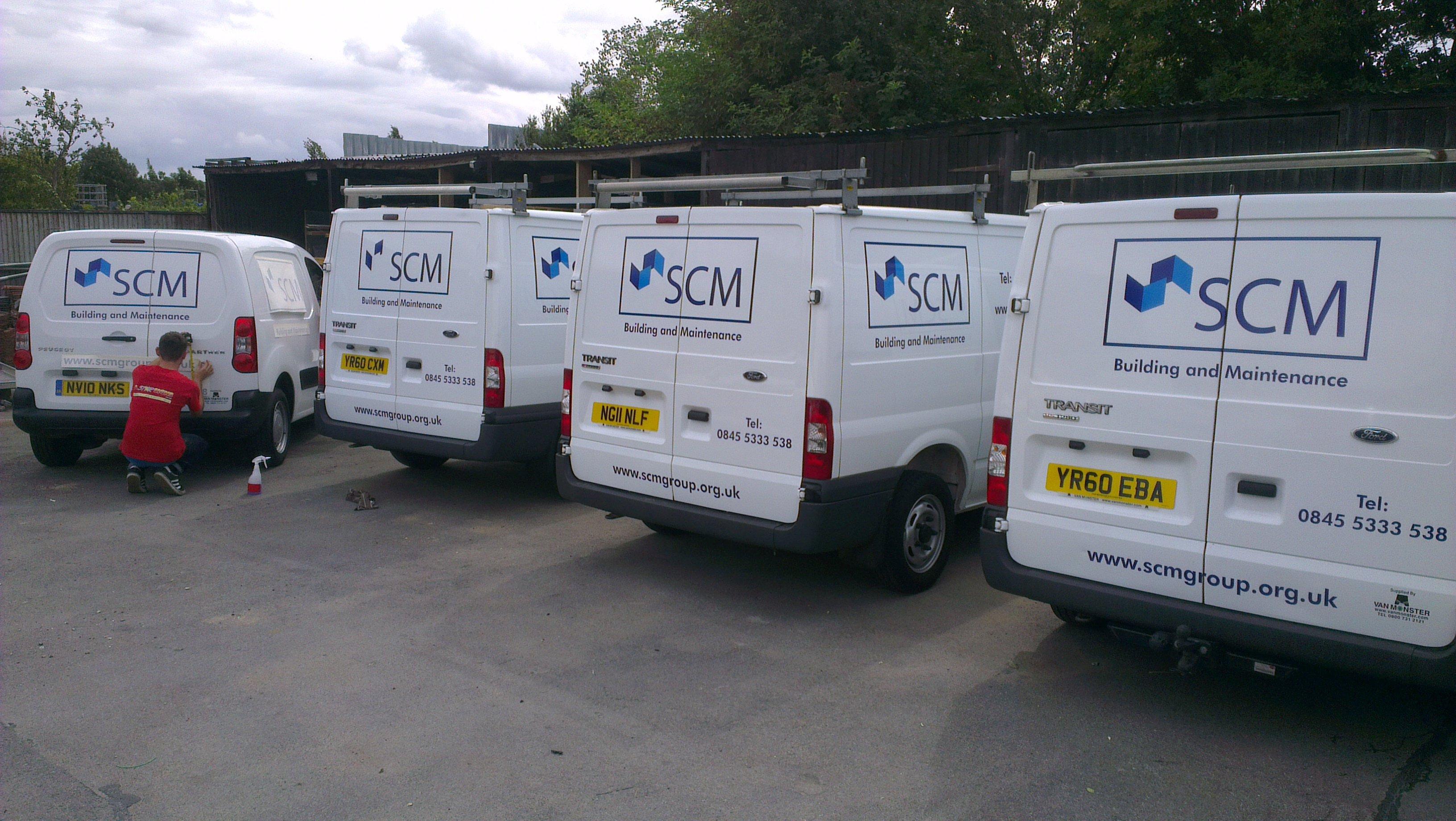 SCM rear view of the van