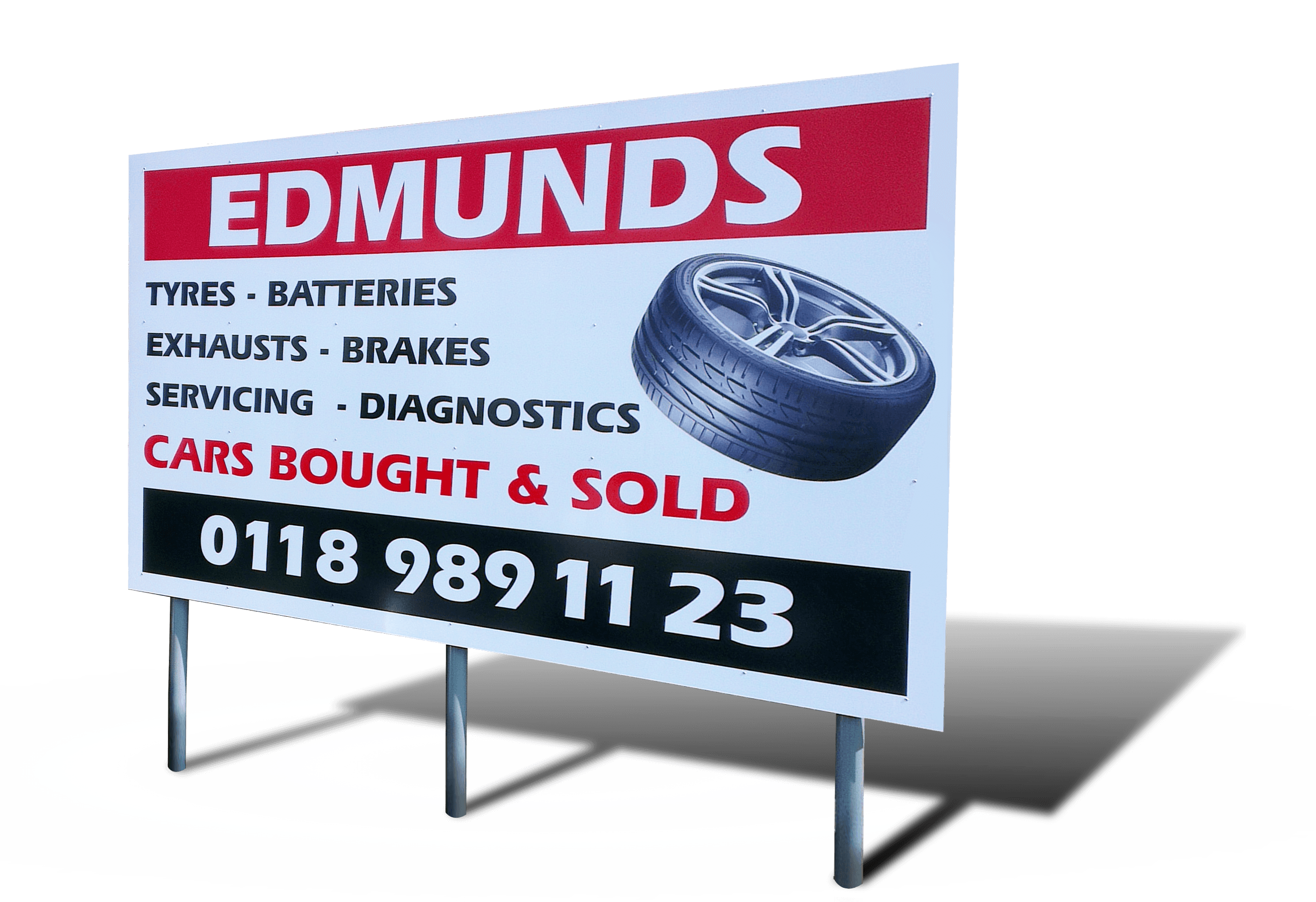 EDMUNDS exterior sign