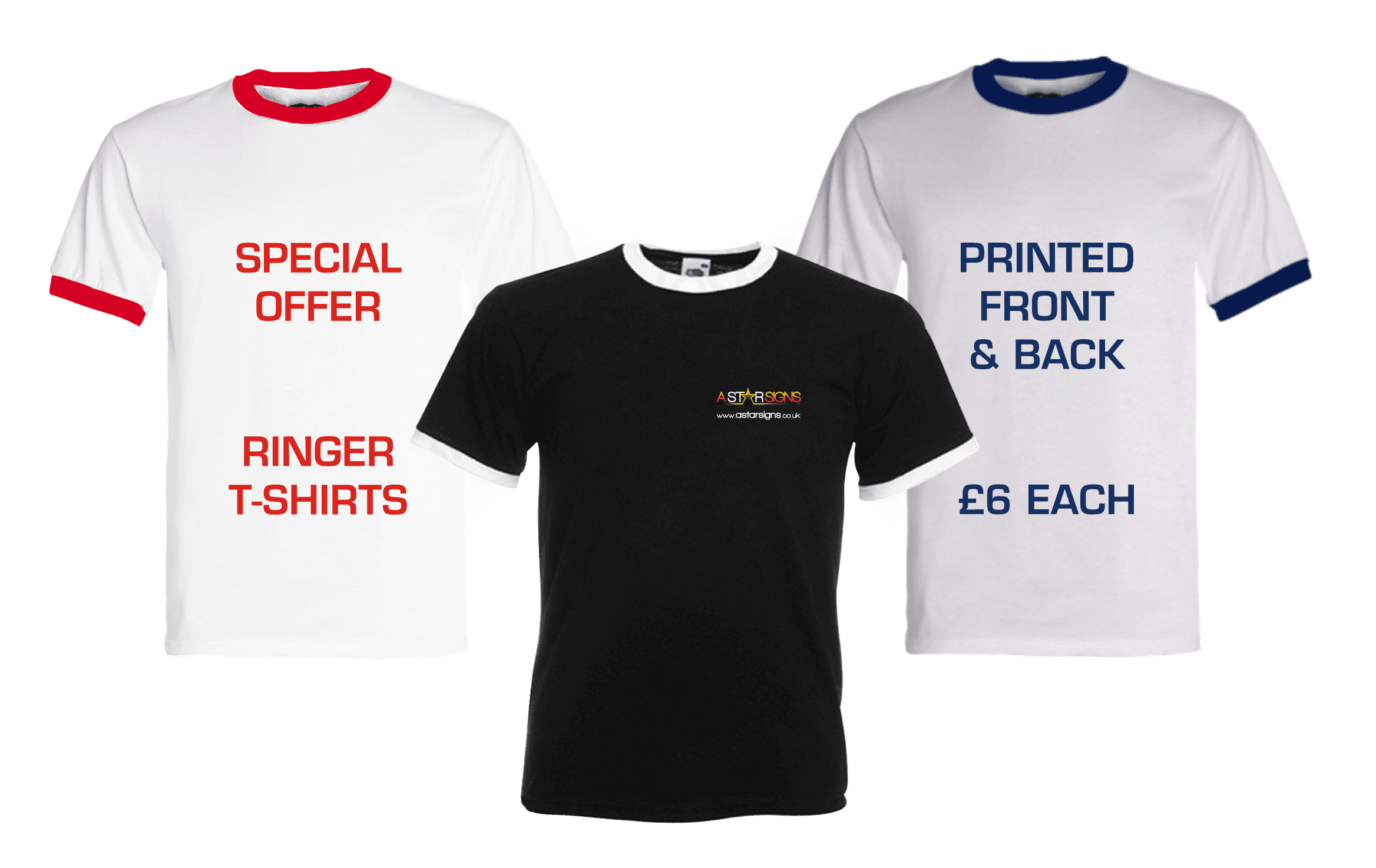 Special offer Ringer T-shirts