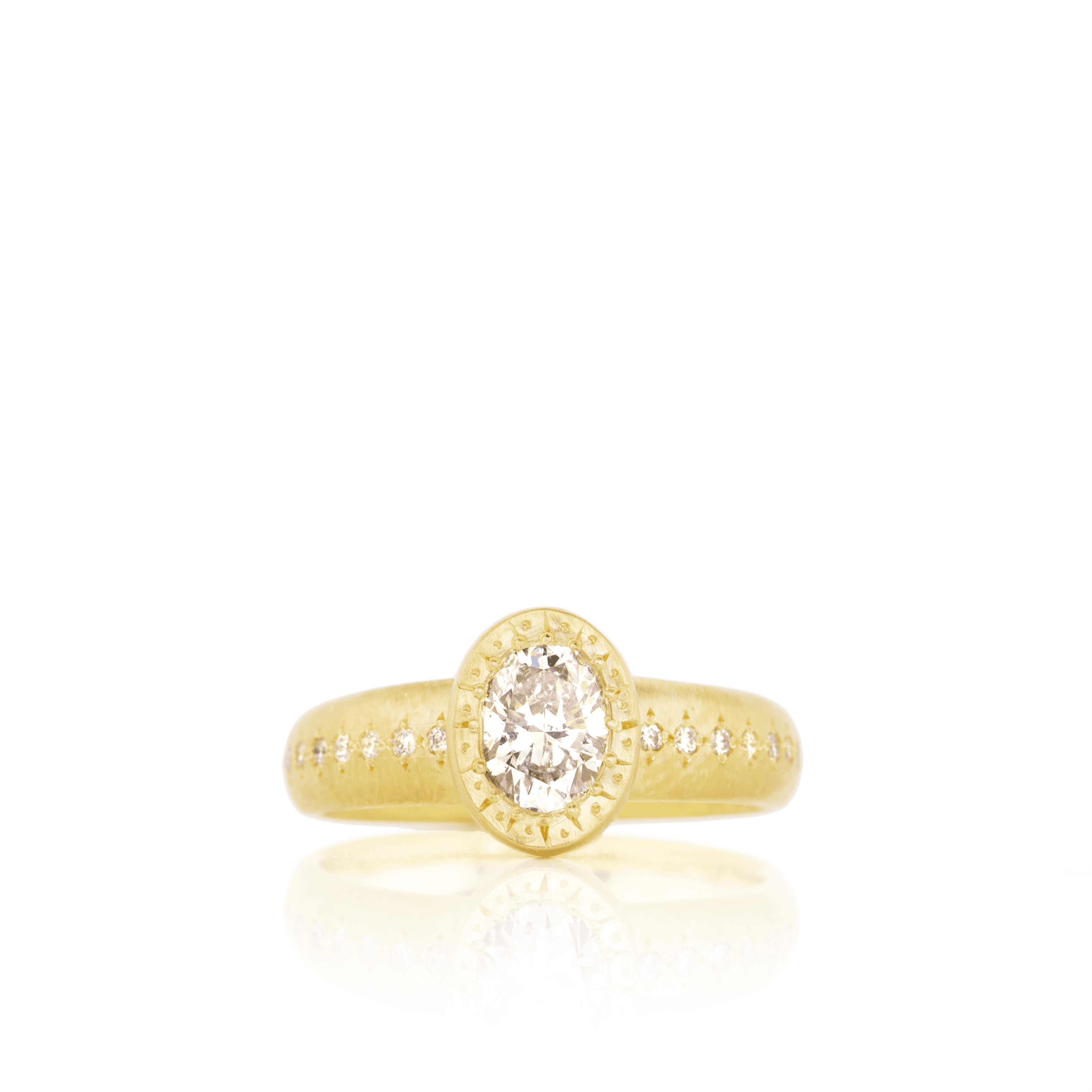 Gold Diamond Ring - Adel Chefridi - Mansoor Jewelers