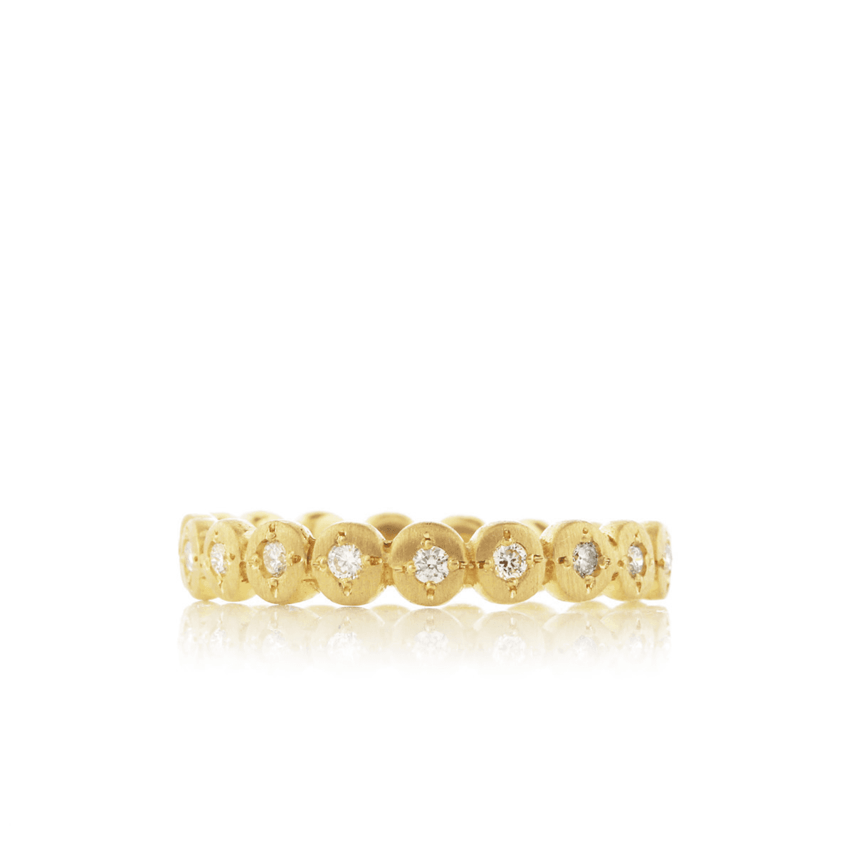 Gold Band With Diamonds - Adel Chefridi - Mansoor Jewelers