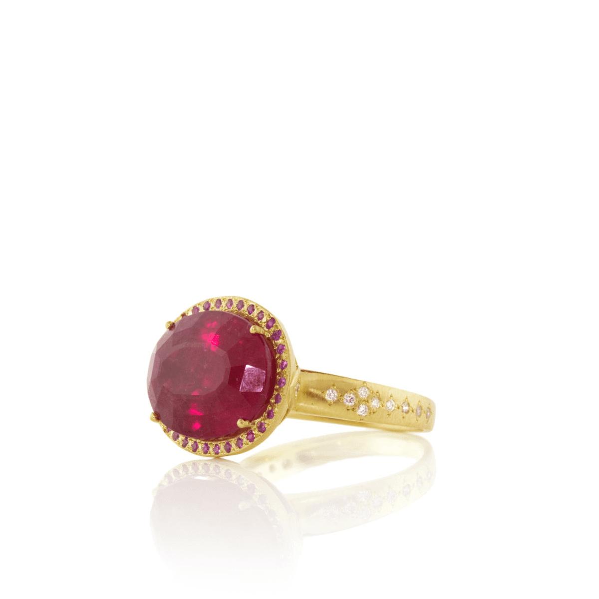 Rubellite Ring - Adel Chefridi - Mansoor Jewelers