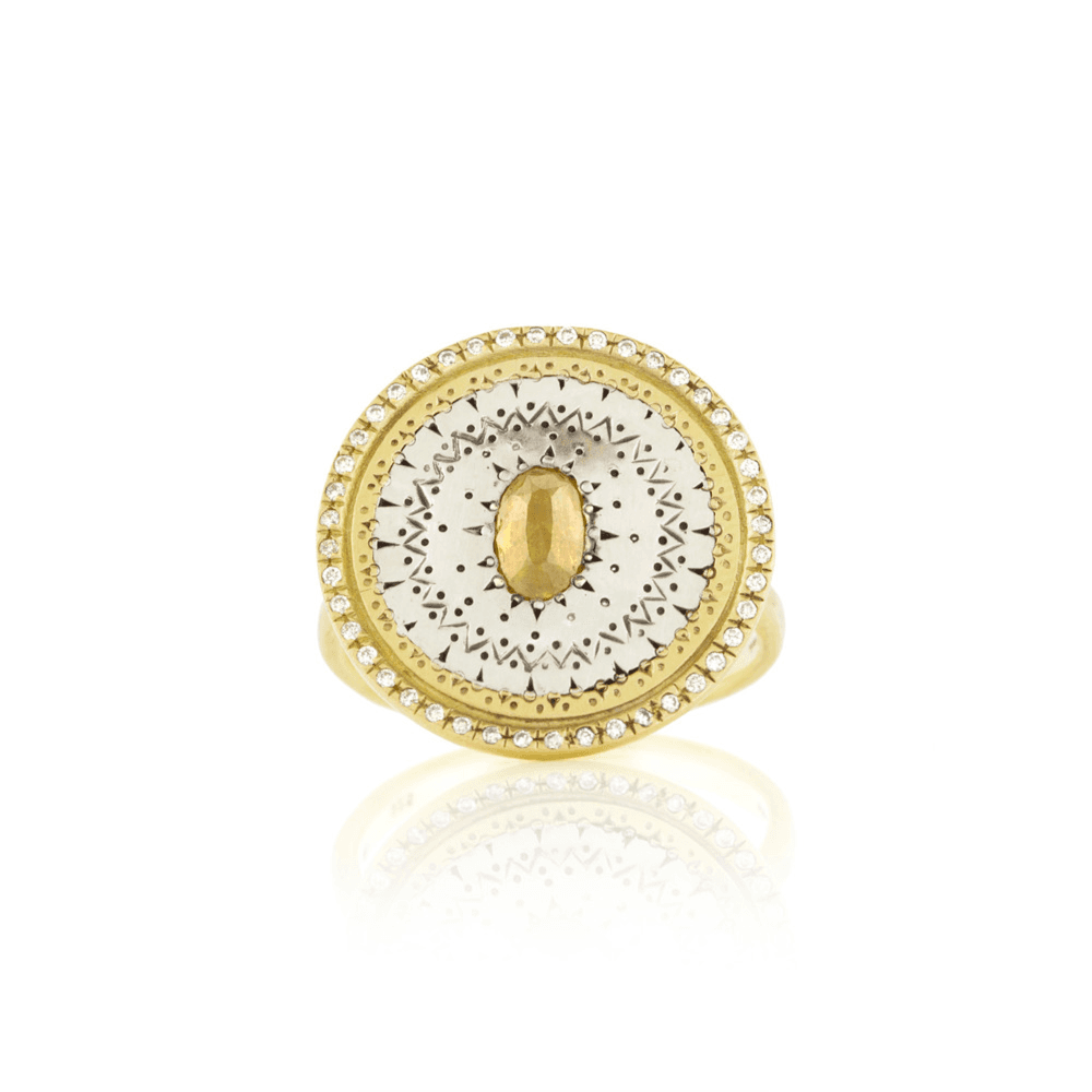 Siver Ring w/ Diamonds - Adel Chefridi - Mansoor Jewelers