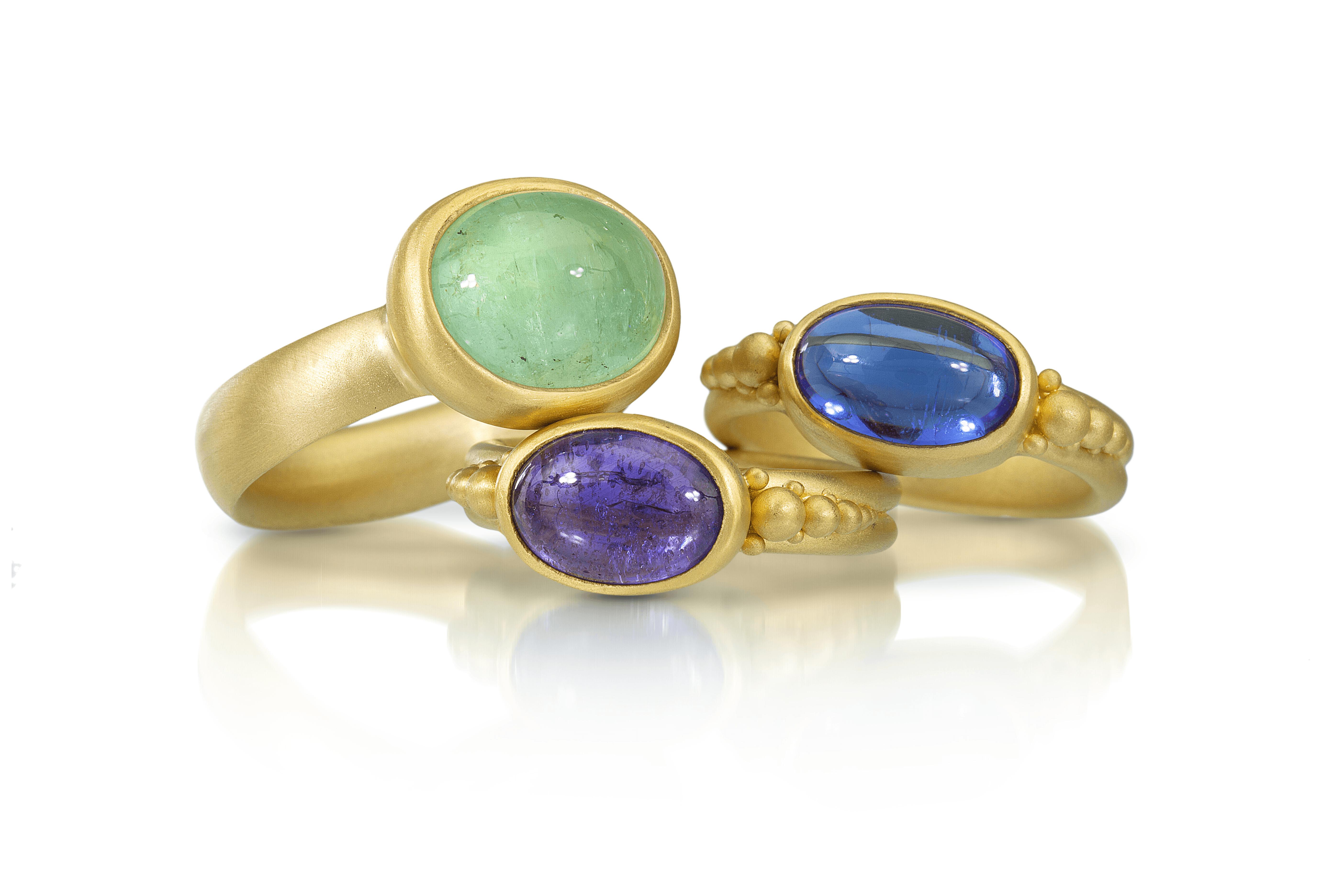 Gold Rings w/ Gemstones