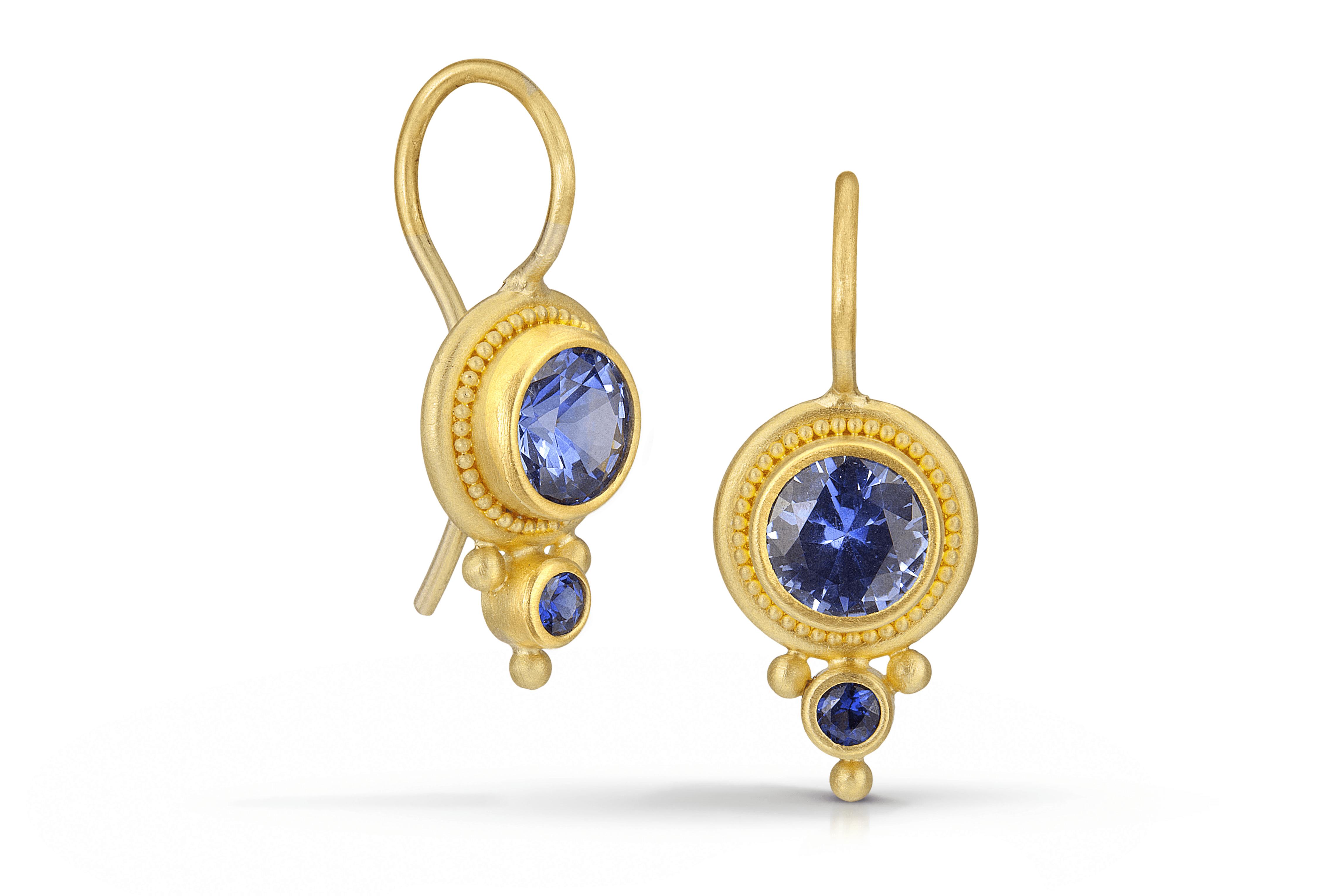 Blue Sapphire Earrings - Betesh
