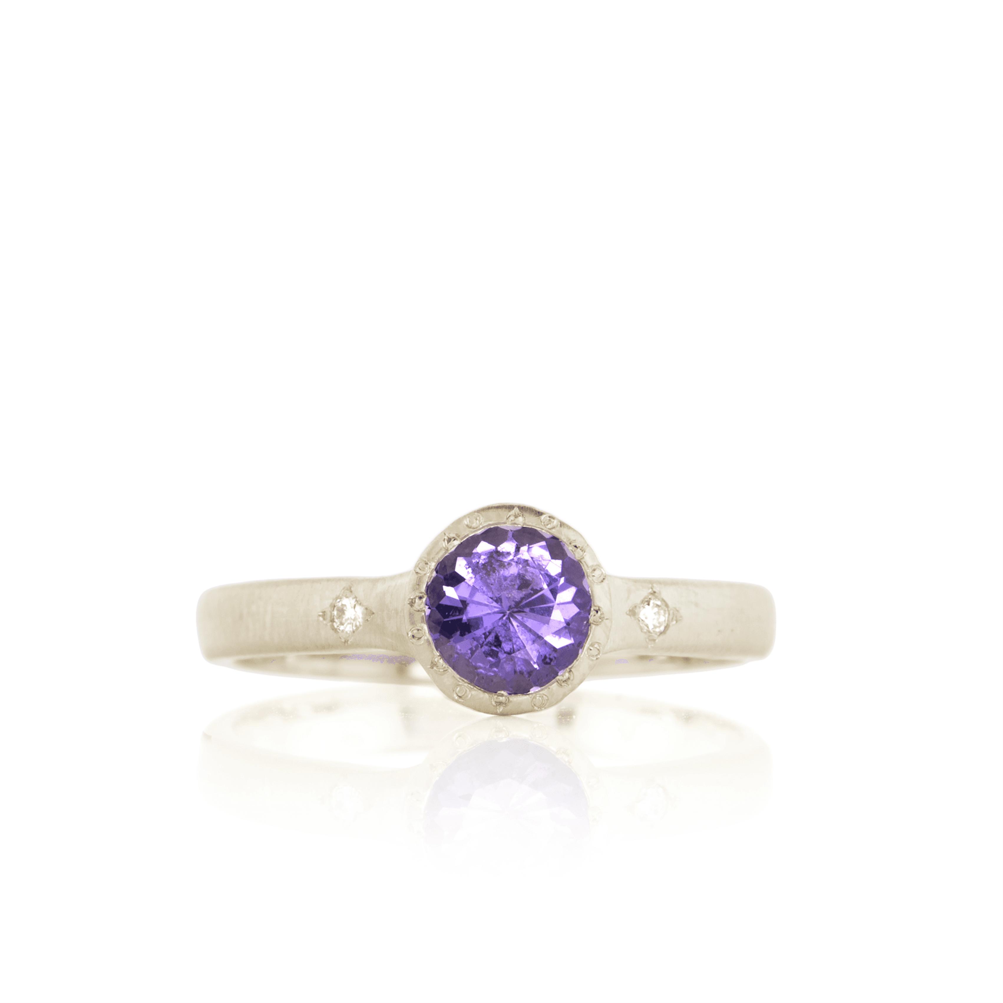 Purple Saphhire - Adel Chefridi - Mansoor Jewelers