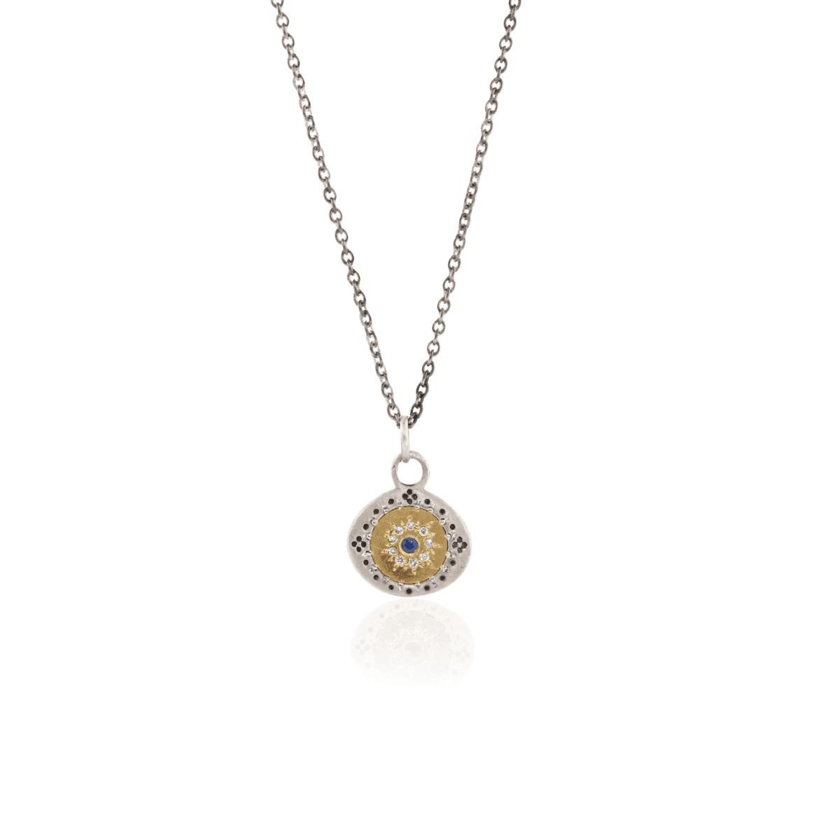 Diamond and Sapphire Neckalce - Adel Chefridi - Mansoor Jewelers