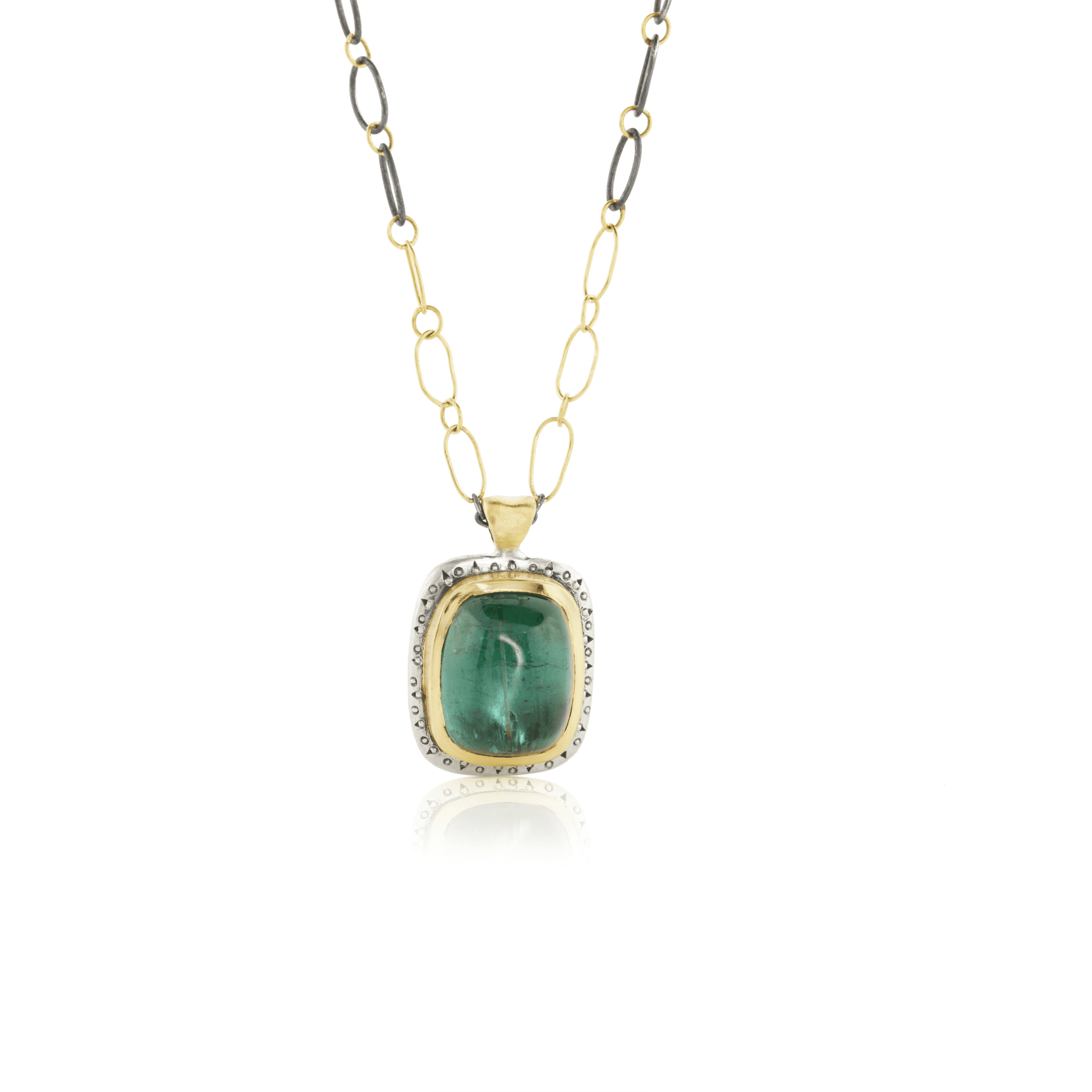 Green Tourmaline Necklace - Adel Chefridi - Mansoor Jewelers