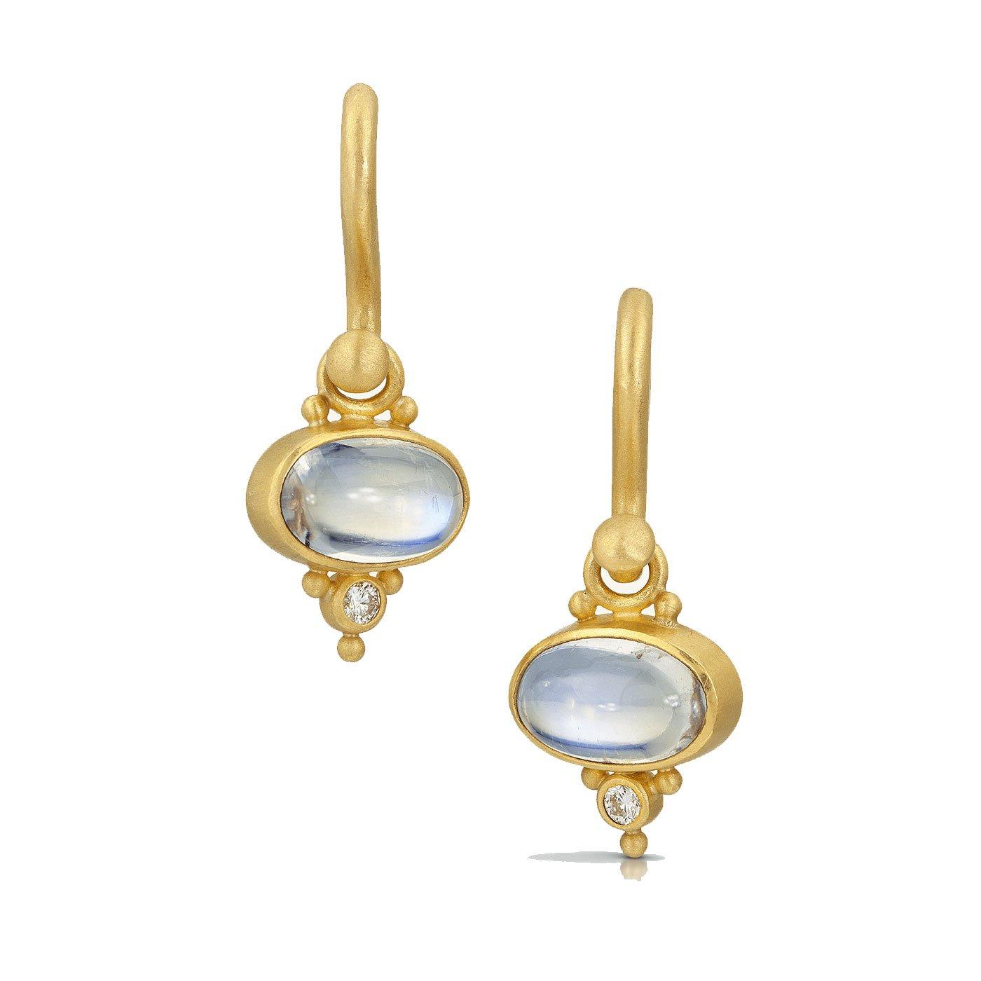 Moonstone Earrings - Betesh - Mansoor Jewelers