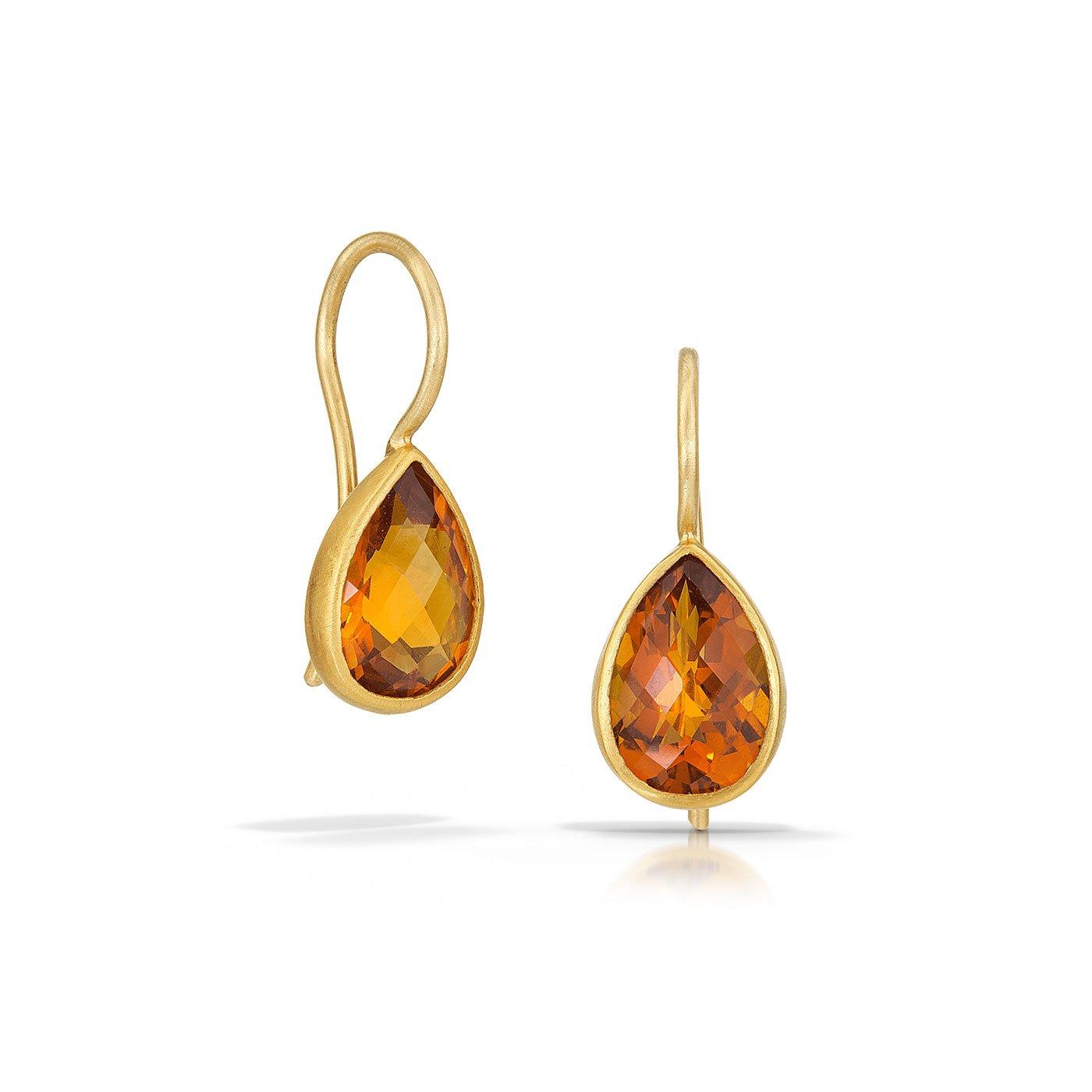 Hessonite Earrings - Betesh - Mansoor Jewelers