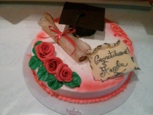torta per la laurea