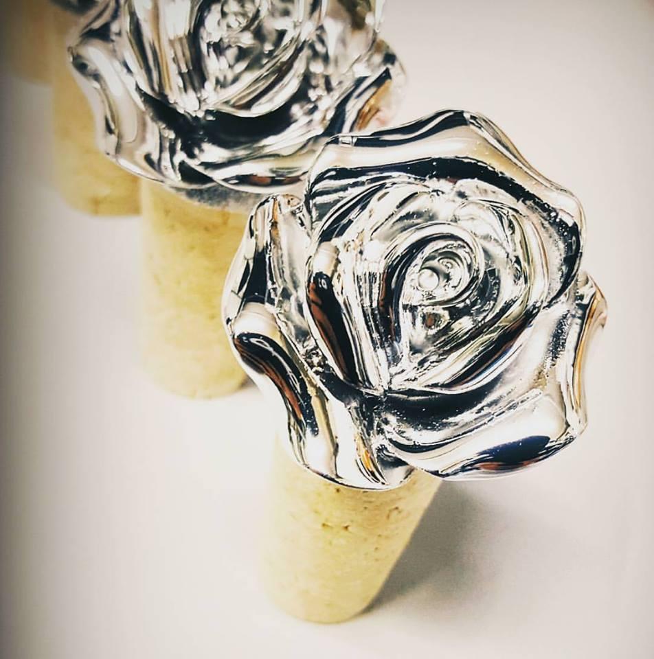 accessori a forma di fiore in argento